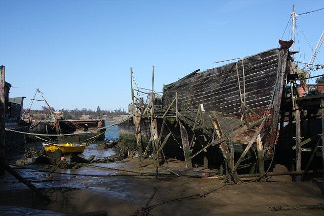 Rotting hulk at Pin Mill