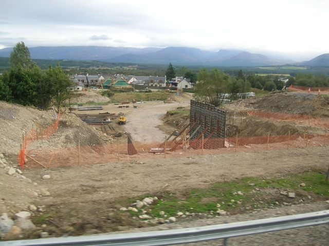Construction of new underpass on A9