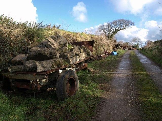 Trackside equipment near Badgall