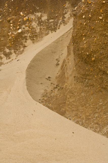 Miniature sand dune on shoreline of Hengistbury Head