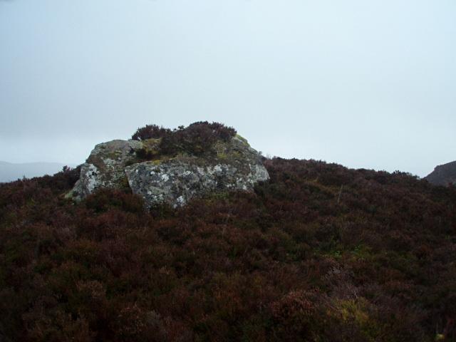 Wet boulder near Loch na Ba