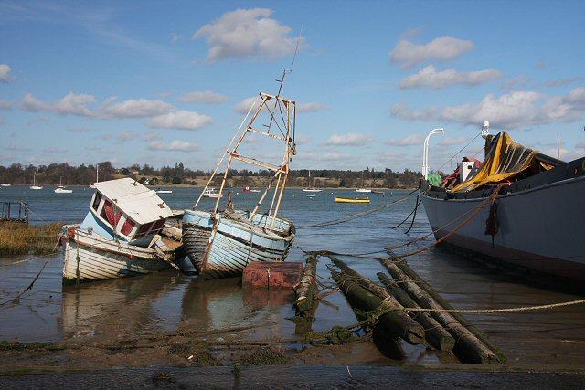 Old boats at Pin Mill