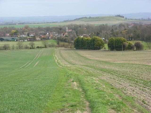 Footpath descending to Blewbury