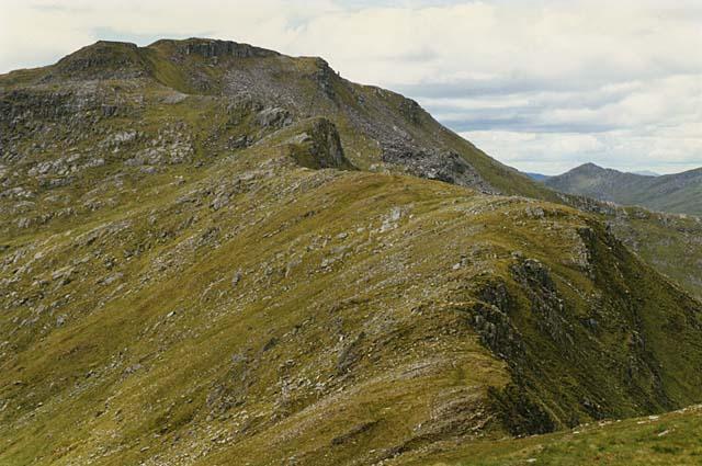 The ridge west of Sgurr Coire nan Eiricheallach
