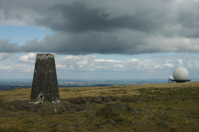Titterstone Clee Hill: the summit