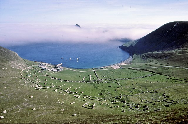 Looking towards Village Bay from the slopes of Conachair