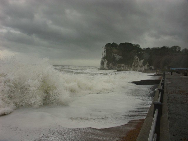 Stormy Day at St. Margaret's Bay, Kent