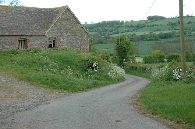 Lane through Holdgate