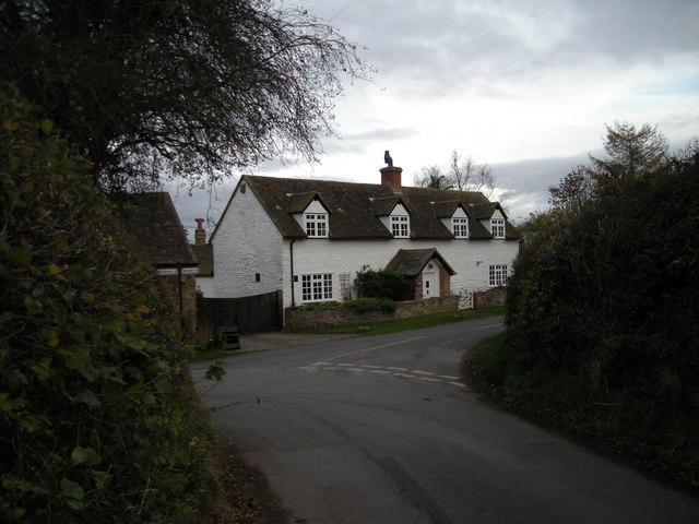 Lane junction at Middleton Priors