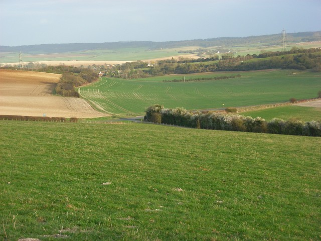 Farmland on the Moulsford Downs
