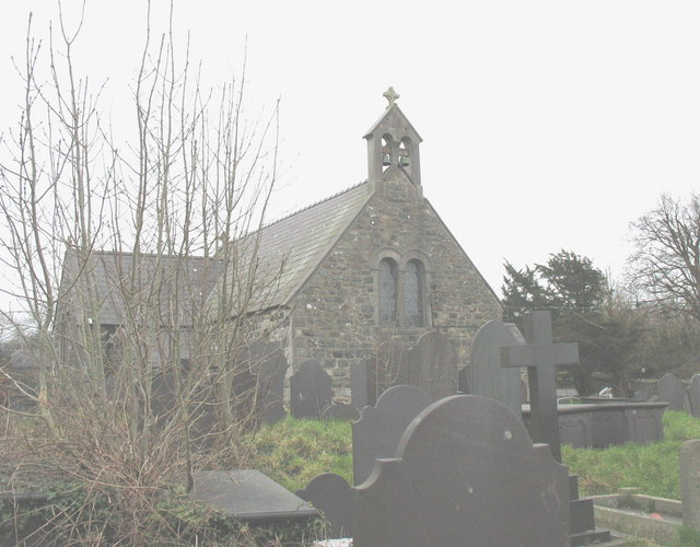 The western end of St Gwyndaf's CinW Church, Llanwnda