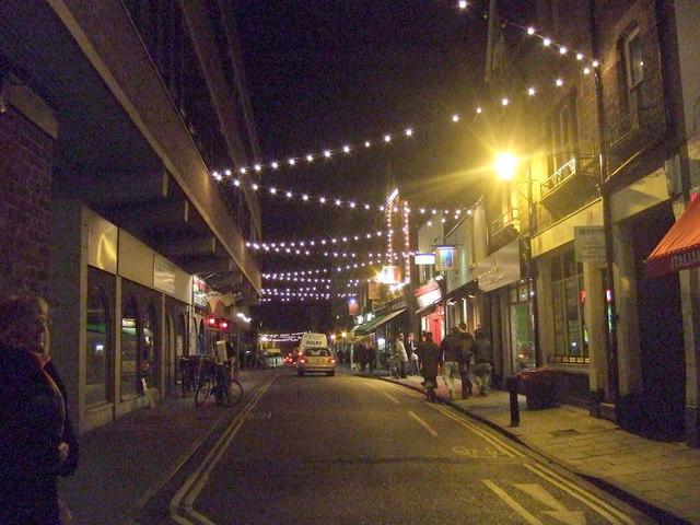 Little Clarendon Street after dark