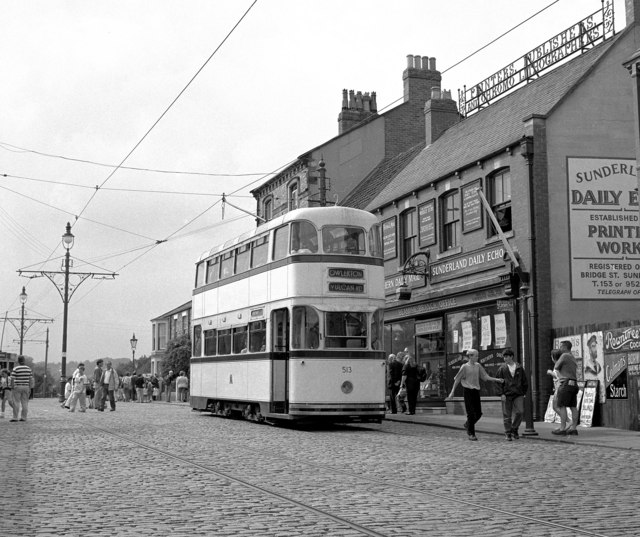 A Sheffield tram at Beamish