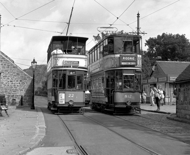 Glasgow trams at Crich