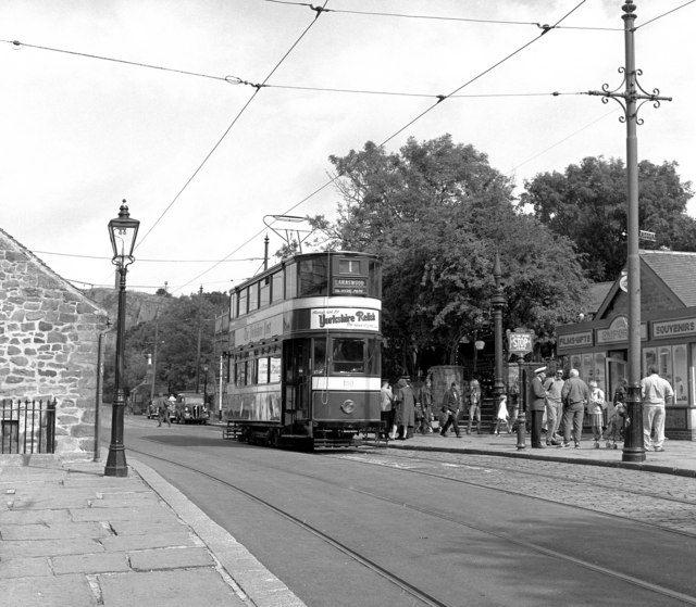 A Leeds tram at Crich