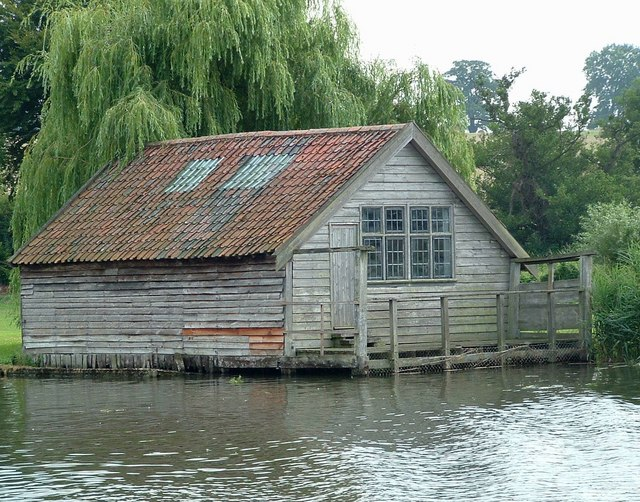 Ancient Boathouse, Brick Kiln Reach, River Yare