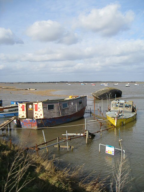House boats on the River Deben