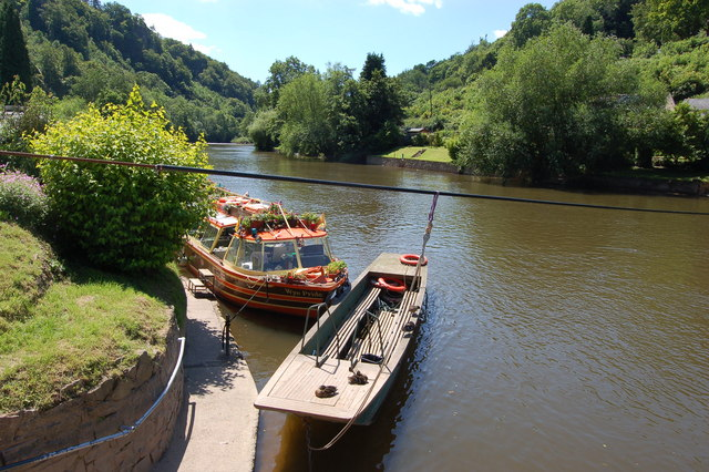 Water transport on River Wye at Symonds Yat East