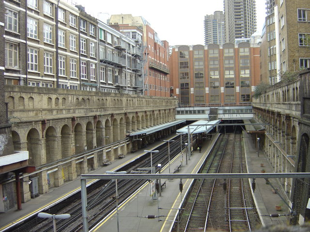 A peek over the bridge - Barbican Station