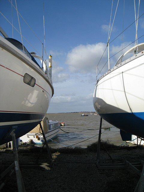 Sailing Club boatyard, River Deben