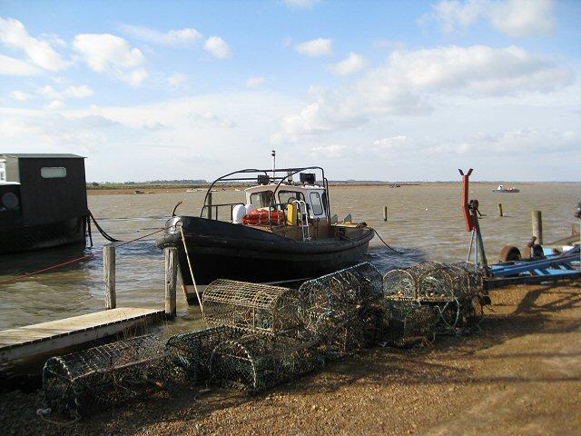 Lobster pots alongside the River Deben