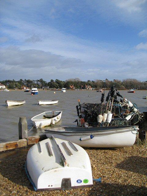 Ferry Boatyard alongside the River Deben
