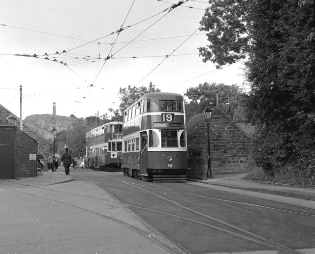 A Liverpool tram at Crich Tramway Village