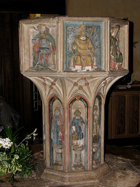 All Saints Church - baptismal font