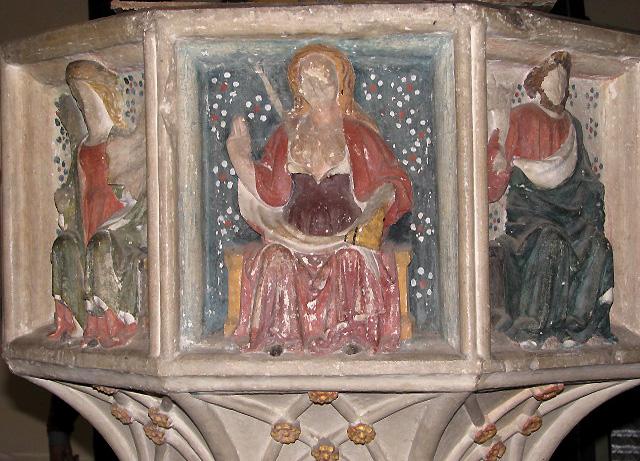 All Saints Church - baptismal font detail