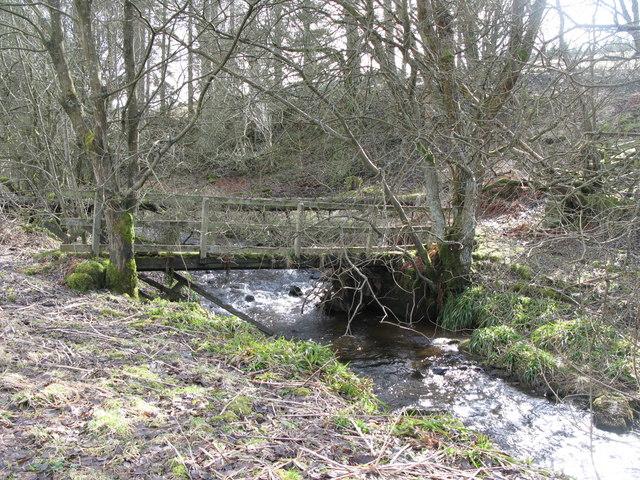 Footbridge over the River East Allen (3)