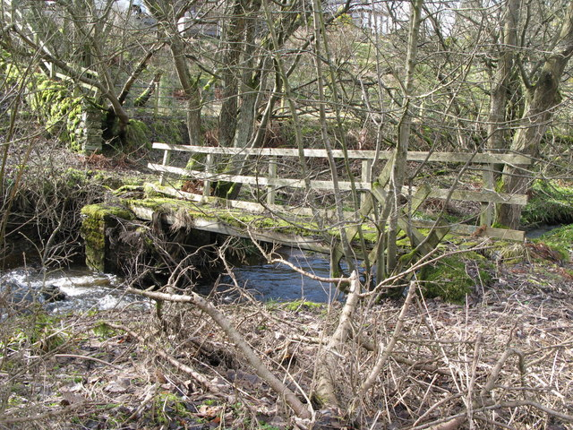Footbridge over the River East Allen (4)
