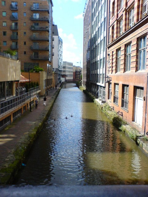 Rochdale canal after clean up (from Oxford road)