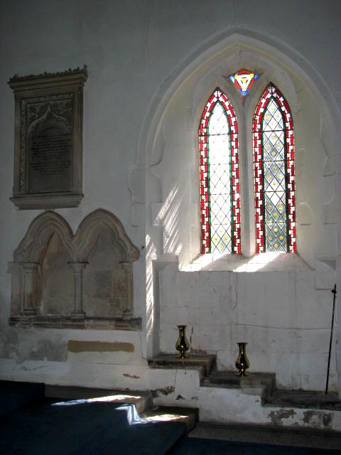 St Peter's church - piscina