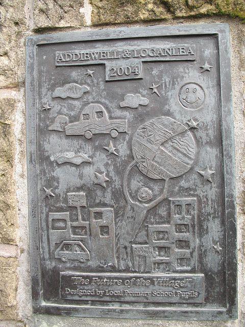 Addiewell and Loganlea Memorial  Cairn detail
