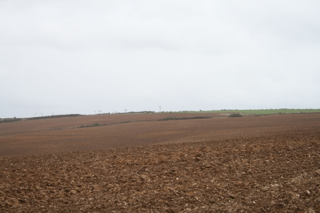Ploughed fields at Pawton