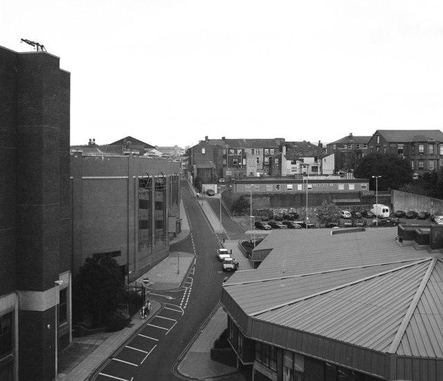 Looking up Penn Street, Rochdale