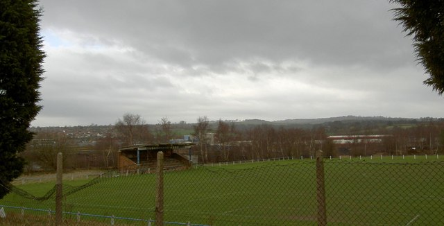 Woolley Colliery football club stand and ground.