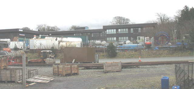 The Welsh Water Depot from Dinas Station