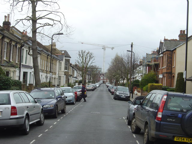 Rothschild Road, looking southwest