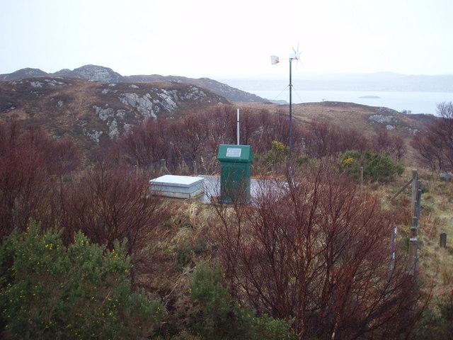 Water storage above Leacnasaide