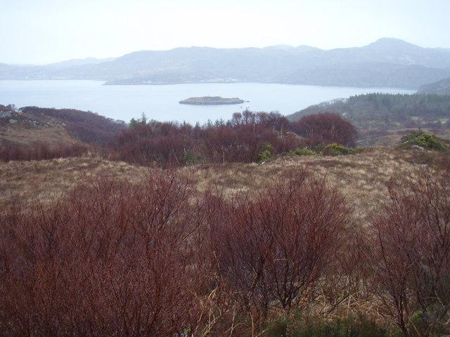 Moorland above Leacnasaide