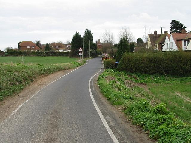 Approaching Acol on Crispe Road