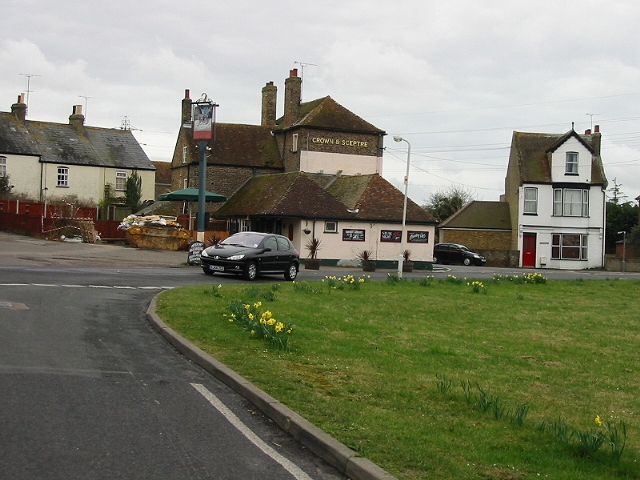 The Crown & Sceptre, Acol, from Crispe Road