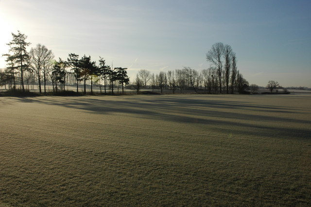 Frosty field at Baynham