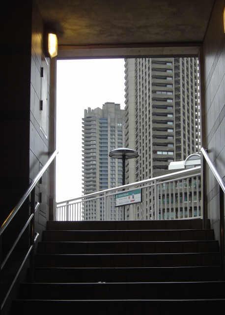 Up onto the Highwalk