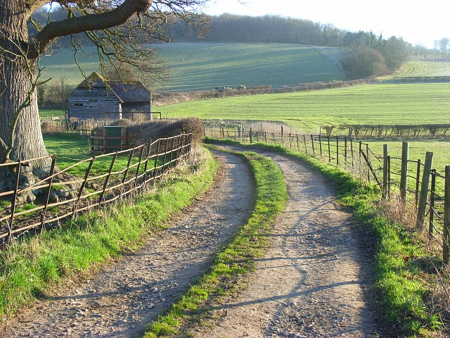 Track and barn in the Hambleden Valley