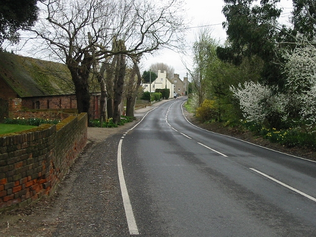 View along the road at Sevenscore