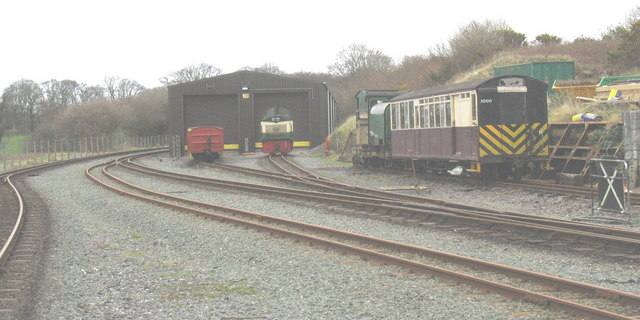 The Dinas engine shed and shunting yard north of the station