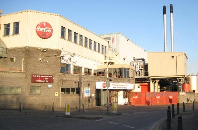Edmonton: Coca-Cola plant, Eley's Industrial Estate, N18