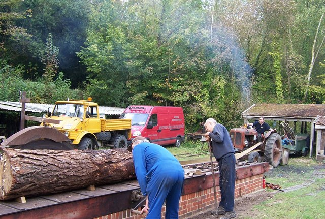 Sawing Logs- Amberley Working Museum